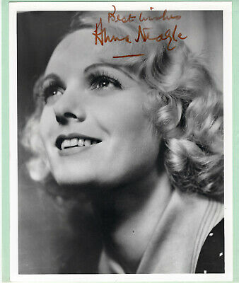 Anna Neagle British Actress Signed Autographed B&W Photo - Melchior Collection