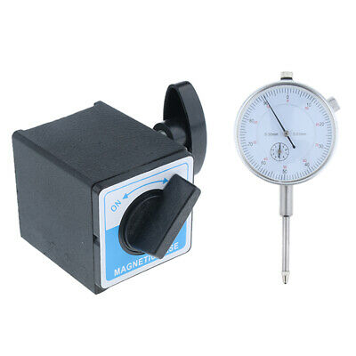 Precision Dial Test Indicator w/Pointer,Metric 0-30mm &Gage Holder
