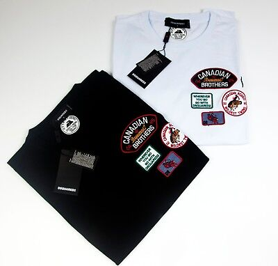 DSQUARED2 PATCHES T-Shirt Short Sleeves Slim Fit NEW 2018 DSQ2 Patches