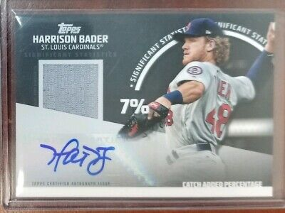 Harrison Bader 2019 Topps Series 2 Jersey Auto Autograph #/50