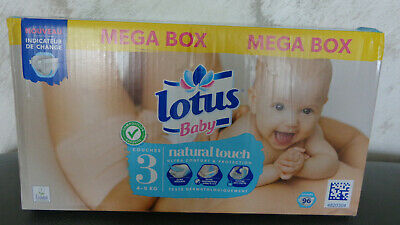 """Lotus Baby """"Natural touch"""" méga box de 96 couches taille 3 (4-9 kg)"""