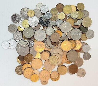 165 Mixed Coins Circulated From Around The World From 1950'S Onwards