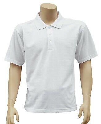 CATHEDRAL Polo Mens White Tennis Classic Combed Cellular Poly Cotton Top 2020
