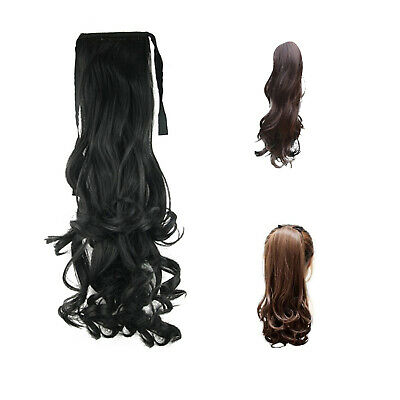 Synthetic False Hair Ponytails Pad pony Tail Curly Piece Long Wavy Clip  A7X5