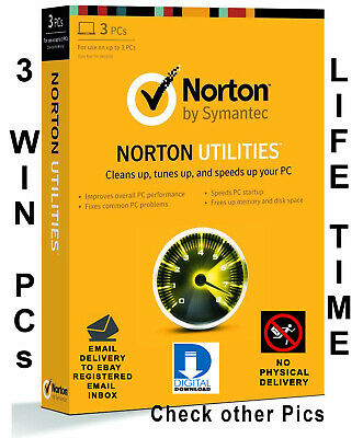 Norton Utilities v16 2019 for 3 PCs Life time license Global Digital Download