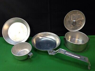 Vintage Boy Scouts Of America Aluminum Cooking Set