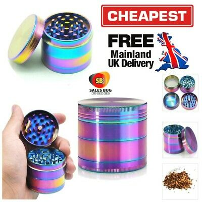 Rainbow 4 Part 50Mm Shark Teeth Grinder Herb Tobacco