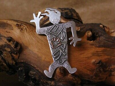 Vintage Sterling Silver Geometric Overlay Figure Pin