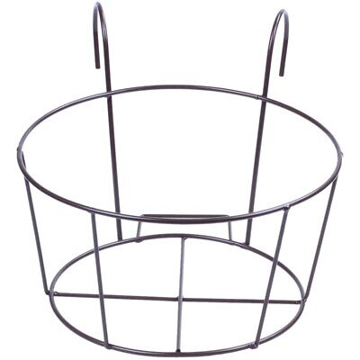 Metal Iron Flower Pot Hanging Balcony Garden Plant Planter Home Decor basket S12