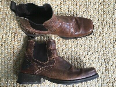 75849171b0a24 Men's Ariat 10019868 Midtown Rambler Ankle Boots 13 D Brown Leather Square  Toe