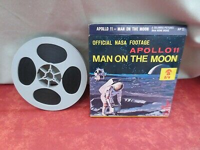 """Super 8 mm """"Official Nasa Footage Apollo 11 man on the moon  """""""