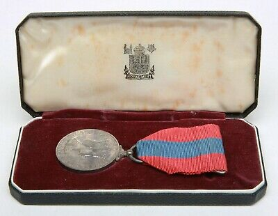 Cased Queen Elizabeth Ii  Imperial Service  Medal With Paper Work