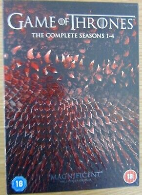 Game of Thrones Complete seasons 1-4, DVD Set as New Dolby Digital/Surround