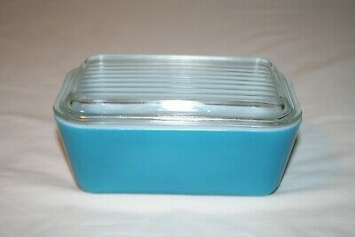Pyrex Primary Color Blue 0502 Refrigerator Dish with 502-C Lid