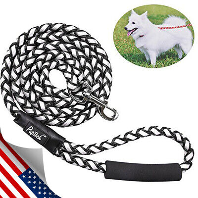 Heavy Duty Reflective Braided Dog Rope Leash for Large Medium Dogs Working