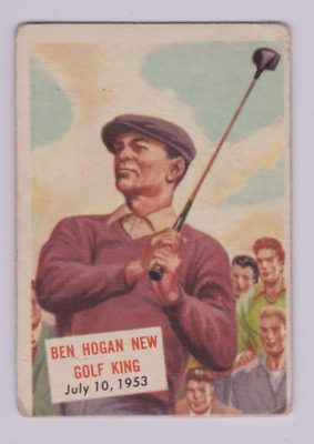 CLEAN, AFFORDABLE 1954 Topps Scoop card # 129 Ben Hogan New Golf King Fort Worth