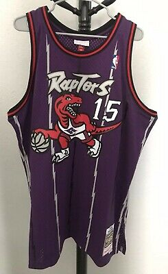 3289e4ae Toronto Raptors NBA Mens Authentic Mitchell Ness Vince Carter 98 99 Jersey  2XL