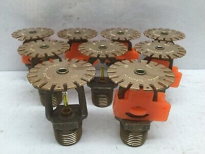 "TYCO TY2189 1/2"" Quick Response Sprinkler Head 175F (Lot of 9)"