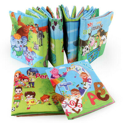 Intelligence Early Learning Soft Kid Educational Toys Cognize Baby Cloth Book