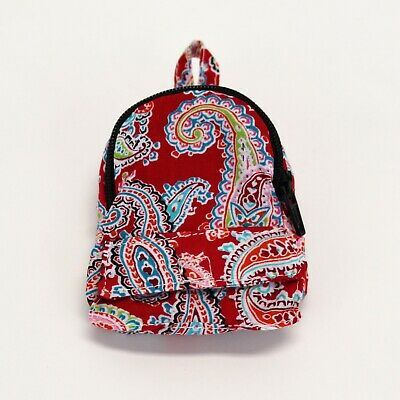 18 Inch Doll Mini Backpack - Red Paisley - Backpack for American Girl Dolls
