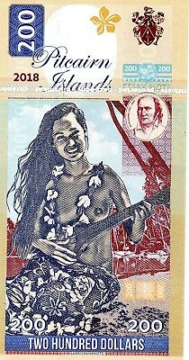 PITCAIRN ISLANDS $200 2018 Bounty Polynesian Nude 1 x FANTASY Banknote