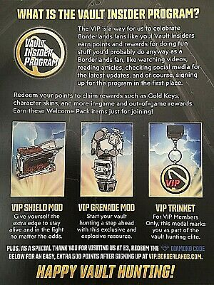 BORDERLANDS 2 DIAMOND Loot Chest individual Shift codes for PC or