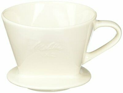 Melitta filter ceramics [2-4] cups of major off-white with a spoo From japan