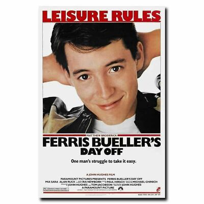 19F122 Ferris Bueller's Day Off Matthew Broderick-Art Silk Cloth Wall Poster