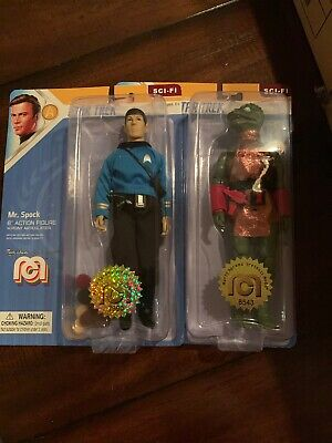 Mego 2019 Star Trek SET Spock Trouble w/ Tribbles and Glow Accents GORN