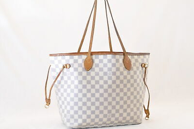 AUTH LOUIS VUITTON Neverfull MM Damier Azur Tahitienne For a Cause