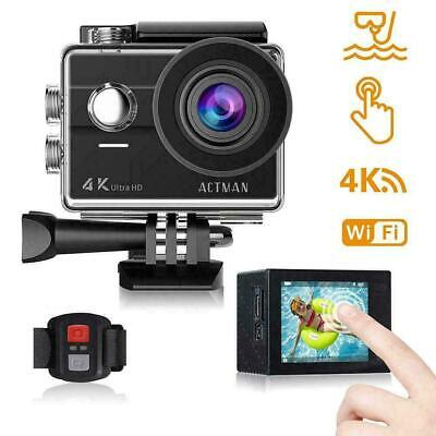 Action Camera 4K 16MP Waterproof Underwater ACTMAN Touch Screen with...