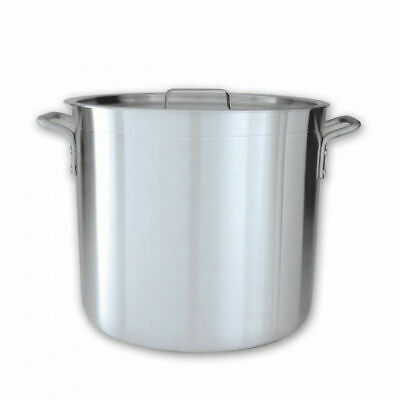 Stockpot with Cover / Lid 40L Aluminium Reinforced Rim Commercial Stock Pot