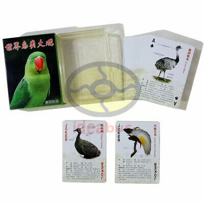 Collectible Educational Playing card/Poker Deck 54 cards The Birds Of The World