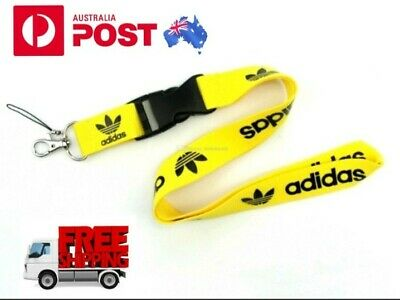 Lanyard ID Card Holder Yellow USB Adidas for Security Pass Keychain Neck Strap