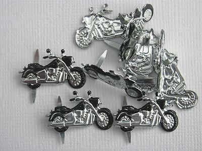 BRADS - MOTORBIKES / MOTOR CYCLE - pk of 6  bike man cards scrapbooking craft