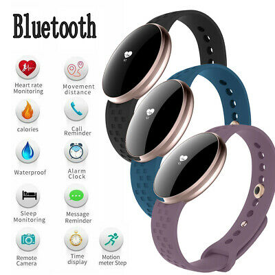 Womens Bluetooth Smart Watch Fitness Tracker for iOS iPhone Andriod Bracelet CA