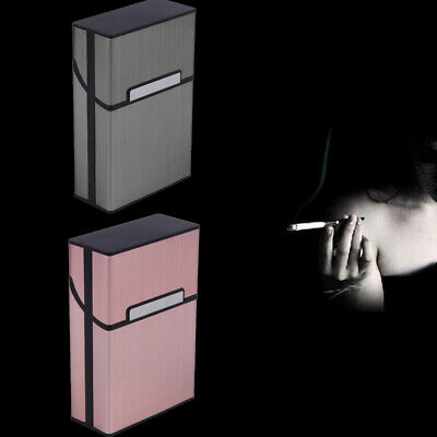 Aluminum Metal Cigar Cigarette Box Holder Pocket Tobacco Storage HOT 2019
