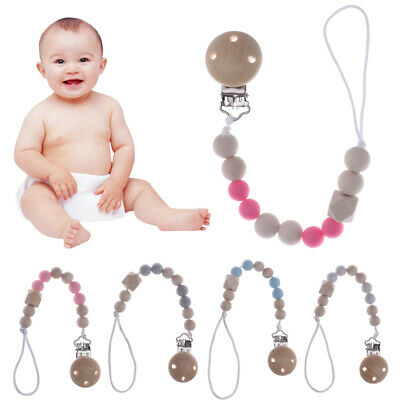 Infant Chew Toys Nipple Holder Pacifier Chain Dummy Clips Baby Teething
