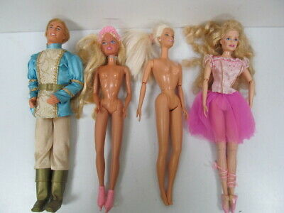 Vintage Mattel Tune Playing Prince And Other Barbie Style Dolls Collection of 4