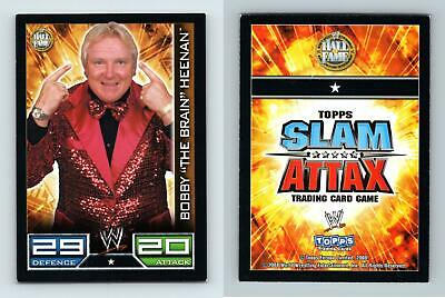 "Bobby ""The Brain"" Heenan WWE Slam Attax 2008 Topps TCG Card"