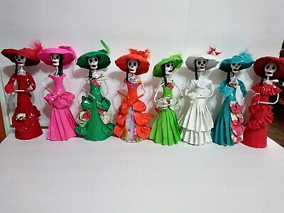 Day Of The Dead Paper Mache Doll. $13 Each