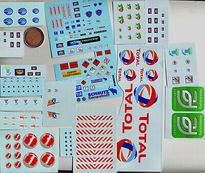 decals decalcomanie lot planches divers   poids louds camion entamé ou non  1/43
