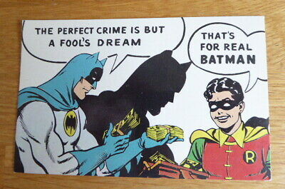 Vintage Original Batman Batgram Postcard #3 Dexter Press New York 1966