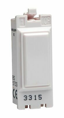 Varilight G202SKW Powergrid Module White 20A 2-Way Single Pole Key Switch