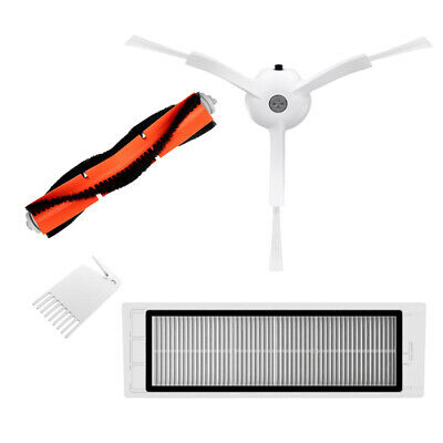 Main Side Brush Filter Net Replacement Accessories for Xiaomi Vacuum Cleaner