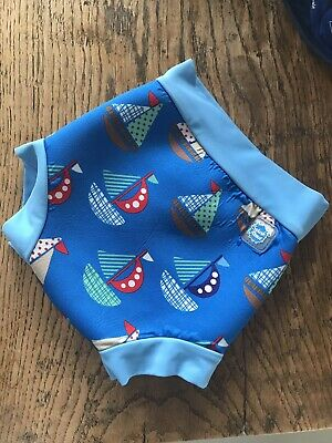 Splash About Swim Suit Happy Nappy Shortie Boys Boat Print Xlarge (12-18Months)