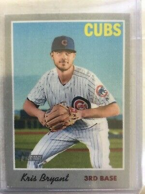 Kris Bryant 2019 Topps Heritage Walmart Cloth Photo Sticker SP Insert #2 Cubs
