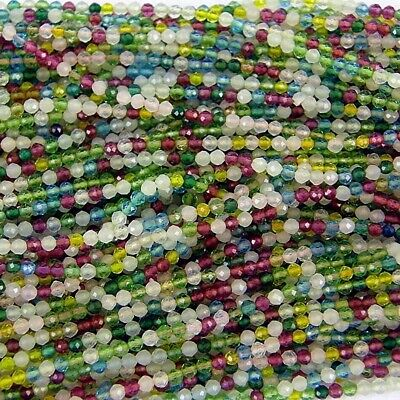 Lime Mixed Beautiful String of glass seed beads - size 11/0 (approx 2mm) 180+