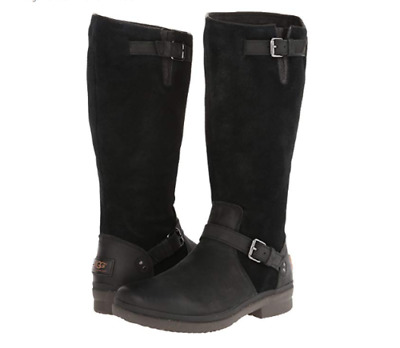 f825e13bdb8 UGG THOMSEN WATERPROOF Calf Boot Size 9.5 Womens Black Leather ...