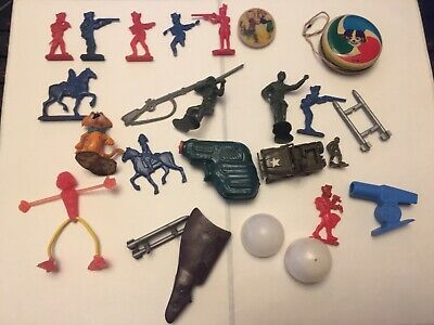 Vintage Cracker Jack Lot (20) Collectible Gumball Charms Toys Prize Keepsakes
